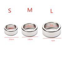 anel de dispositivo de castigo masculino de aço inoxidável venda por atacado-3 pçs / lote 26/28/30 mm glande anéis de pênis de aço inoxidável suave anel peniano dispositivo de castidade masculino penis manga sex toys para o homem