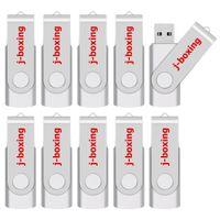 unidades flash al por mayor-10PCS flash USB Memory Stick de 64 MB Pequeño giratorio USB Capacidad para el ordenador portátil de la tableta de unidades USB impulsión del pulgar Pendrive envío