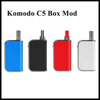 batteries de boulons achat en gros de-Nouveau design Komodo C5 Boîte Mod 510 fil Cartouches 400mAh intégré Préchauffer Costume Batterie pour Amigo Liberté épais réservoir d'huile