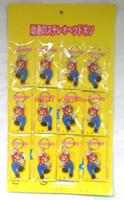 figuras de espuma venda por atacado-Novos 3 sets (12 pçs / set) Dos Desenhos Animados Anime Super Mario Espuma Macia Chaveiro Chaveiro Pingente Figura Modelo Chave Cadeia Para Melhor Presente