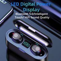 Wholesale earphone wireless mp4 resale online - New F9 Wireless Headphones Bluetooth Earphone TWS HIFI Mini In ear Sports Running Headset Support iOS Android Phones HD Call