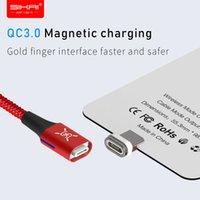 mikro usb kablosuz şarj alıcısı toptan satış-SIKAI Qi USB Şarj Için Kablosuz Şarj Alıcı Mikro Andriod Xiaomi Araba Için Manyetik Adaptör Alıcı Pad Bobin Telefon