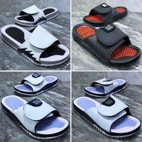 zapatillas benassi al por mayor-Nuevo diseñador Slipper Gear Bottoms para hombre sandalias de rayas Causal antideslizante verano Benassi Hydro Flip Flops zapatillas de calidad superior