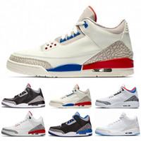 nefes alabilen açık basketbol ayakkabısı toptan satış-Fashional Erkekler Yüksek Kalite 3 III 3 s basketbol ayakkabıları mens Nefes Açık Spor Konfor Ayakkabı Retro Sneakers boyut 7-13