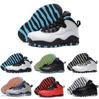 ingrosso scarpe da basket uomini-[] A buon mercato all'ingrosso Nuovo 10 X Gs Fusion 10s Mens scarpe da basket Outlet migliore qualità Us Men Spedizione gratuita Us8.0-13