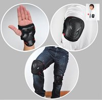 Wholesale knee pads roller skating resale online - bike bicycle Cycling Roller Ski Skate board Skating Knee Elbow Wrist Pads Safety Protective Gear christmas gift