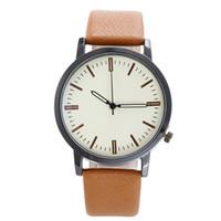 beliebte armbanduhren großhandel-Reloj Mujer 2019 neuesten Frauen Quarz-Uhren Art und Weise einfache Lederuhr Damen europäische populäre Armbanduhr Unisex Uhr heiß