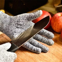 Wholesale level gloves for sale - Group buy Anti Cut Proof Gloves Hot Sale GMG Grey Black HPPE EN388 ANSI Anti cut Level Safety Work Gloves Cut Resistant Gloves