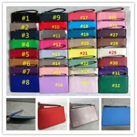 kozmetik çantası pu deri toptan satış-KS Ile PU Deri Cüzdan İpi Bileklik Fermuar Çanta Debriyaj Çanta Kadın Kredi Kartı Nakit Para Kılıfı Kozmetik Çanta Moda Mini Çanta