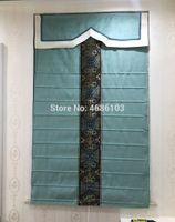 cortinas persianas tons latinos venda por atacado-Alta qualidade de luxo europeu persianas persianas e cortinas porta cortina roman para sala de estar quarto