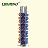 Wholesale 360 Rotating Capsule Coffee Pod Holder Capsules Dispensing Tower Stand Fits for Nespresso Capsule Storage Coffee Stand