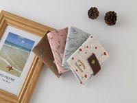 monedero niña flor al por mayor-4 colores Venta caliente mujeres bolso corto niñas tarjeta de impresión bolsa niños moneda flor mini tarjeta monedero cartera de moda