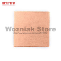 Wholesale laptop heat sink for sale - Group buy Wozniak Laptop CPU Copper Slice heat sink Radiating Notebook computer CHIP IC Video card Copper sheet red with heat conduction