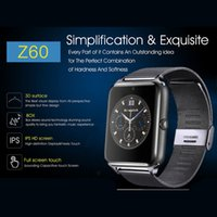 Wholesale gsm sim card for gps tracker resale online - Z60 Bluetooth Smart Watch Men Phone Call G GSM SIM TF Card Camera Touch clock reloj inteligente Smartwatch Android Watch IOS