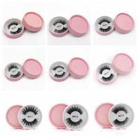 cílios venda por atacado-Cílios 3D falso vison falso Protein Mink cílios 3D Silk Lashes 100% artesanal natural falsificados Eye Lashes com presente da caixa RRA645