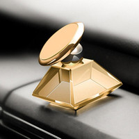 Wholesale phone holder gps online – Luxury Jewelry Crystal Car Holder Mount PPMA Magnet Magnetic Degree Rotation Cell Phone Mobile Holder Universal For Phone GPS MQ50