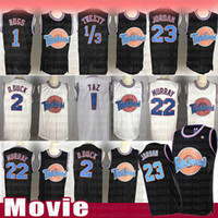 Wholesale black green basketball jerseys resale online - Taz Tweety Tune Squad Space Jam Bugs Bunny Movie Jersey Men s Kid s Michael Bill Murray Lola D DUCK Basketball Jerseys