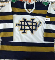 Wholesale fighting irish jersey resale online - Notre Dame Fighting Irish Marca Bauer hockey jersey Embroider stitched Customized Any Name And Number