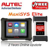 ingrosso strumenti di renault ecu-AUTEL MaxiSys Elite Car Diagnosis J2534 ECU Strumento di programmazione Più veloce di Autel maxisys pro MS908p Aggiornamento gratuito 2 anni sul sito Web Autel