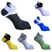 пальцевые носки для мужчин оптовых-Новый бренд мужские носки хлопка пять пальцев летние носки для мужчин дышащие лодыжки модные носки
