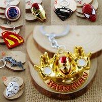 batman ketten groihandel-Retail Pack Superheld Avengers Iron Man Supermann Batman Spiderman Deadpool Maske One Direction Zelda Schlüsselanhänger Schlüsselanhänger Tasche hängt Schlüsselanhänger