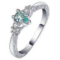 anillos de zafiro natural plata de ley al por mayor-Novia de la manera única boda ahueca hacia fuera Diseño Anillo de compromiso 925 azul zafiro natural de la piedra preciosa de la boda