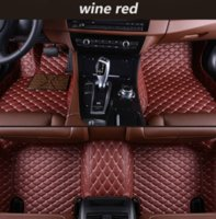 Wholesale cars toyota vios resale online - Toyota Vios car mat luxury surrounded by waterproof leather wear car mat