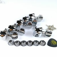 Wholesale electric string winder online - Korean silver semi closed electric guitar head button winder string button suitable for SQ bullet series