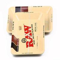 bandeja de moda venda por atacado-Raw Metal dourado Bandeja Do Rolling Prático Food bandejas de doces da placa de forma Tin Plate cases Caso de armazenamento Placas Tinplate Caixas MMA2629