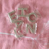 bling camisas strass venda por atacado-Bling Bling Rhinestone Carta de Luxo Broche Set 6 Strass Carta Broche Terno de Lapela Pin Diy Camisa de Jóias Acessórios de Pano