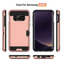 Wholesale metal s4 phone case resale online - Fashion brushed card anti drop mobile phone case FOR Samsung Galaxy S3 S4 S5 S6 S7 S8 S9 S10 G9200 G9600 EDGE PLUS