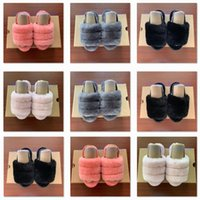 sandalen schuhe für kinder großhandel-2020 Kids Designer Schuhe Girls Kids Fluff Yeah Slide Sandale Fur Slide Slippers Kindersandalen Furry Slippers Slipper Hausschuhe Slides