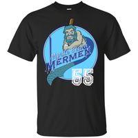 schwarzes baseball t-stück großhandel-Myrtle Beach Mermen 55 T-Shirt Baseball 2019 Männer schwarz Vintage T S-3Xl Trendy Street-T-Shirt