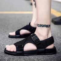Wholesale mens gray flip flops for sale - Group buy Mens Sandals Summer Men s Shoes Roman Men Canvas Casual Shoes Flip Flops Gray Black Flat Beach Large Size