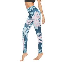 Wholesale sexy workout clothing for women resale online - Shaping Leggings For Women High Waist Casual Flower Sexy Hips Print Push Up Leggins Workout Fitness Clothing Leggings