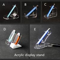 ingrosso visualizza la penna-Espositore acrilico a penna piatta Vape E cig Pods ecig Espositore kit portamatite monouso