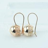 bons brincos para mulheres venda por atacado-Mulheres Boa Qualidade Dangle Earring Novo bola lisa 585 cor do ouro Brinco Jóias