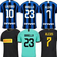 camisa verde preta venda por atacado-2019 Inter ERIKSEN Milan Lukaku casa 20º aniversário de distância verde Black Men jérsei de futebol ALEXIS maillot camisa uniformes de pé de Futebol 2020