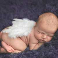 Wholesale cute girls hot photos for sale - Group buy Newborn Costume Outfit Cute Infant Photo Props HB254 New Hot Sale Baby Girls Feather Angel Wing Photography Props HB254