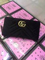sac à main de marque homme femme achat en gros de-Velour Wallet Brand Portefeuille en cuir de marque Long Portefeuilles Titulaires de la carte Marque célèbre pour les hommes Femmes Bourse d'embrayage G3123