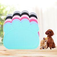 moderne katzenbetten großhandel-Silikon Bunte Haustier Hund Katze Fütterung Mat Pad Pet Dish Bowl Wasser Feed Tischset Puppy Bed Blanket Tischset