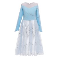 Wholesale baby girl costumes boutique resale online - Baby Girls Snowflake Dresses Sequined Mesh Dress Pants Set Kids Snow Queen Boutiques Party Costume Kids Designer Cosplay Clothes