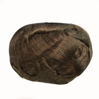 Wholesale back straight hair resale online - Lace With Pu Body Wave Men Toupee Swiss Lace Front With Pu Back Q6 Human Hair Men Wig Breathable High Quality Men Toupee
