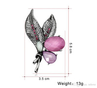 Wholesale wedding bouquet crystal jewelry for sale - Group buy Bouquet Pin Brooch Jewelry Fashion Leaves Retro Shirt Women Collar Brooch Pin Collar Jewelry lovers Accessories