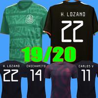 meksika uzunluğu toptan satış-S - 2XL Gold Cup 2019 2020 Camisetas Mexico 19 20 MEN WOMEN Kids soccer jersey CHICHARITO LOZANO long sleeve football shirt