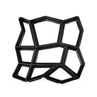 ingrosso pietre di pavimentazione diy-Muffa di pietra nera che fa la fabbricazione di plastica DIY che pavimenta la muffa del percorso di pietra del vialetto della strada del passo del pavimento del giardino della casa della muffa
