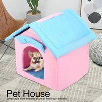 Wholesale tent beds for dogs for sale - Group buy Portable Foldable Breathable Pet Tent House Sleeping Bed for Small Medium Size Dog Cat Winter Warm Cushion Basket Animal Bed
