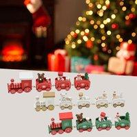 Noel En Bois Mini Train Decorations De Noel Decorations Pour La Maison Nouvel An Enfants Cadeau Kindergarten Fete Z Y18102909