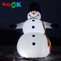 ingrosso saltare decorazioni-Festival della decorazione di Natale gonfiabili Snowmans Saltare in aria di Natale dei giocattoli dei bambini gigante 6,5 piedi all'aperto pupazzo gonfiabile costume