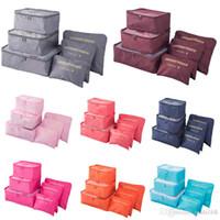 makyaj malzemeleri toptan satış-Seyahat makyaj çantası Ev Bagaj Muhafazası Giysi Saklama Organizatör Taşınabilir Kozmetik Çanta Sütyen İç Kılıfı Saklama Poşetleri 6pcs / Seti
